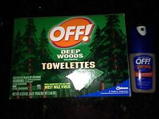 OFF! Deep Woods Insect Repellent 17 Towelettes Wipes & Sportsman Spray