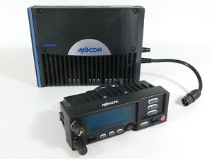 Macom M7300 700/800MHz P25 Trunking Mobile Radio MAMW-SDMXX + CH721 Control Head