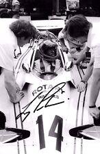 Larry Perkins SIGNED 9x6  Stanley-BRM P207  Brazilian GP Interlagos 1977