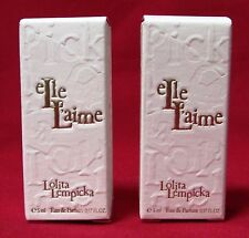 {LOT OF 2} Elle Laime By Lolita Lempicka  .17oz/5ml Women's Eau De Parfum (NIB)
