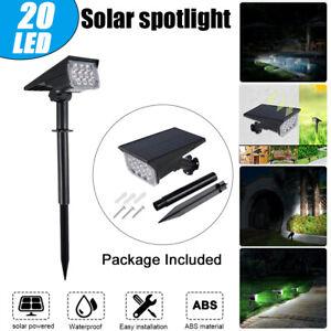 20LED Solar Spotlight Outdoor Garden Pathway Lamp Wall Landscape Lamp Adjustable