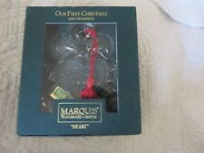 WATERFORD CRYSTAL 2000 Our First CHRISTMAS ORNAMENT LEAD CRYSTAL IRELAND HEART