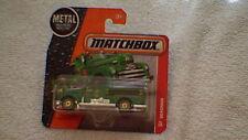 Matchbox (UK Card) - 2016 - #70 Seagrave Fire Engine - Metallic Green