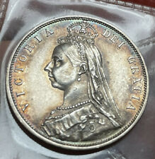 More details for victoria 1/2 crown 1887 grade aunc