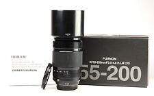 Fujifilm XF 55-200mm f3.5-4.8 R LM OIS Fujinon Fuji Zoom Lens + Caps, Hood & Box