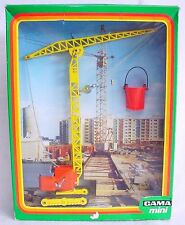 "Gama 1:43 Tall CONSTRUCTION SITE ""HOCHBAUKRAN"" TRACK CRANE #9202 MIB`70 TOP RARE"