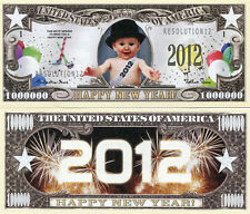 Happy New Year 2012 1 Million Dollars Color Novelty Money Fun Items