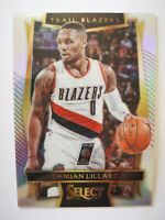 Panini Select 2016-17 card carte NBA prizm Trail Blazers #51 Damian Lillard