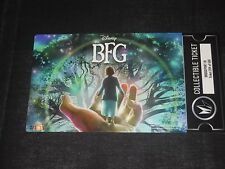 Disney The BFG Collectible Movie Ticket Exclusively at Regal Ticket xxxof500