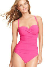 Profile By Gottex Womens Hot Pink Bandeau One Piece Swimsuit Swim US 10