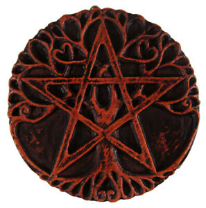 Mini Tree Pentacle Plaque Wood Finish Dryad Design Pagan Wiccan Wicca Pentagram