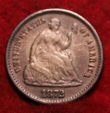 1872-S San Francisco Mint Silver Seated Liberty Half Dime