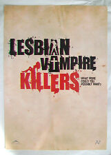 LESBIAN VAMPIRE KILLERS sell sheet James Corden Mathew Horne Phil Claydon