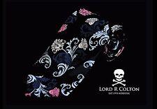 Lord R Colton Masterworks Tie - Positano Gray Pearl Floral Silk Necktie - New