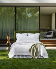 Sferra Giotto Queen Fitted Sheet Grey