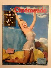 CINEMONDE N°1210 1957 COUV MITZI GAYNOR