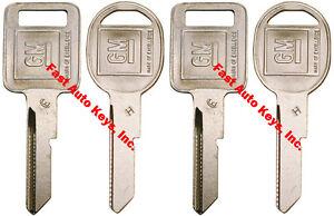 "4 NEW GM Logo OEM ""E"" IGNITION +""H"" DOORS/TRUNK Key Blanks Uncut 320404 + 320405"
