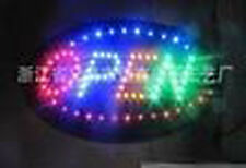 Oval 2 Mode Flashing Open led new window Shop signs