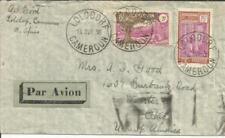 Camerún Sc# 208 ,# 194 Lolodorf 14 / Avr / 38 Correo Aéreo A Ee.uu. Via Paris