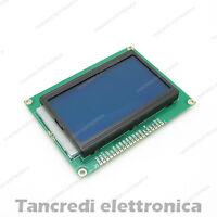 DISPLAY GRAFICO 128x64 LCD 12864 RETROILLUMINATO BLU BLUE (Arduino-Compatibile)