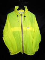 Vintage Bermuda XL Bright Yellow Windbreaker Jacket German Beach Full Zip Hood