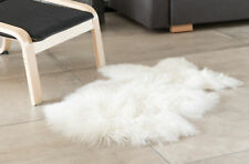 New DEERLUX Genuine Mongolian Lamb Fur Sheepskin Rug Natural Single Pelt