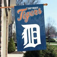 """Detroit Tigers 44"""" x 28"""" Applique and Embroidered 2-Sided Banner/Flag"""
