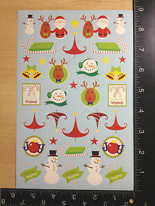 CHRISTMAS STICKERS - BY DARICE - ONE SHEET OF BEAUTIFUL STICKERS - #NAV29