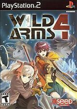 WILD ARMS 4 video game for PS2 PlayStation 2 COMPLETE