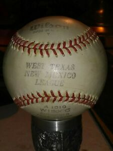 * 1950 (or older) WILSON * MADE IN USA * WEST TEXAS NEW MEXICO LEAGUE * BASEBALL