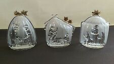 Mikasa golden stars Frosted Crystal set Germany 3 kings,nativity,sheperd