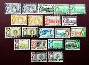 MONTSERRAT 1953 - FULL DEFINITIVE SET (20 STAMPS) TO $4.80 - MINT LIGHTLY HINGED