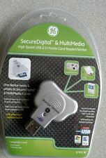 GE SD Secure Digital Card Reader + USB 2.0 6ft Extension Cable A Male to Fe
