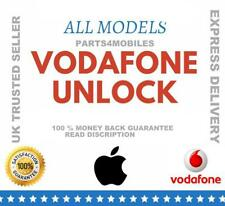 VODAFONE UK FACTORY UNLOCK SERVICE CODE for iPhones 3/4/4s/5/5s/5c/SE/6/6s/7+ UK