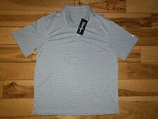 Mens Walter Hagen Essentials Short Sleeve Golf Polo Shirt Grey Alloy New Size XL