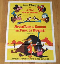 AVVENTURE DI CACCIA DEL PROF DE PAPERIS manifesto poster Disney Paperino Pluto