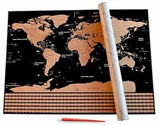 Scratch Off World Map with US States & Country Flags By Lumin-Us w/ Scratch Tool