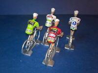 Lot de 4 cyclistes La Vuelta 2019 - Maillots des leaders - Cycling figures