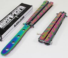 United Black Legion Rainbow Balisong Practice Training Butterfly Style Knife