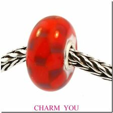 AUTHENTIC TROLLBEADS 61369 Red Purple Chess  RETIRED