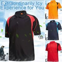 Sport Polo Shirt Mens Tee Top Short Sleeve Designer T Shirt Golf Plain New