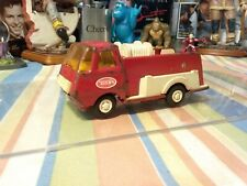 Vintage Tonka, Small Pumper Fire Truck Red & White Mini Tonka USA1970's