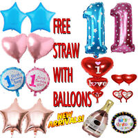 5pcs Foil Helium Balloon 1st Birthday Baby Shower Newborn Girl Boy Party Decor u