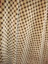 "Upholstery Fabric - Velvet/Chenille - Beige/Brown Diamond Check - 62"" W x 2.5Yd"