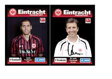 Autogrammkartensatz Eintracht Frankfurt 2012-13 8 Karten Original Sign(1577)