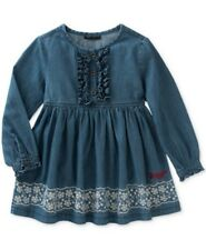 Tommy Hilfiger Ruffle-Trim Denim Dress, Little Girls Size 5