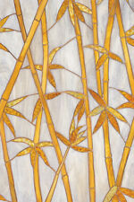 BAMBOO Privacy Stained Glass Decorative Window Film NEW Vinyl Static Cling Films