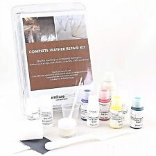 Complete Leather Repair Kit Fix scuffs, scratches, rips, holes. Match ANY colour
