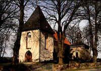 Kirchen Motiv-Postkarte Kirche Church Sankt Marien in Kirchnüchel bei Plön color