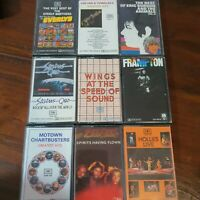 Bulk Lot 9 Cassette Tapes Pop Everlys Status Quo Frampton Hollies Bee Gees Motow
